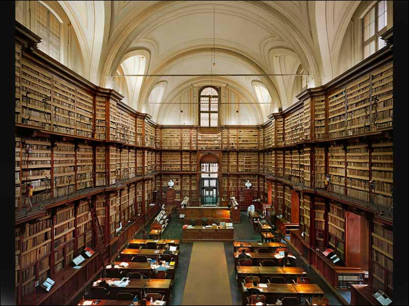 library in Rome Italy