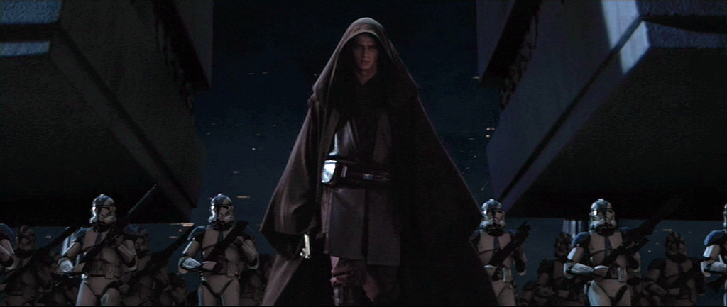 leading the 501 clone legion Anakin Darth vader returned to the temple and into the archives
